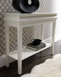 Black Asian Inspired Rectangular Console Table