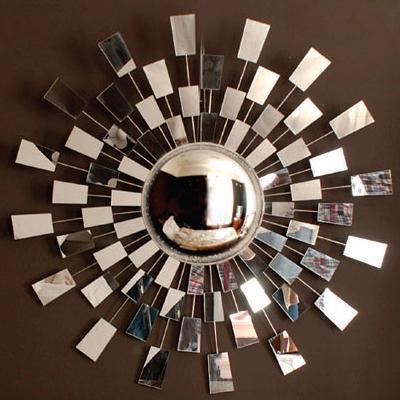mirrored frame sunburst mirror