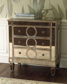 Mirrored Bachelors Chest 3 Drawers