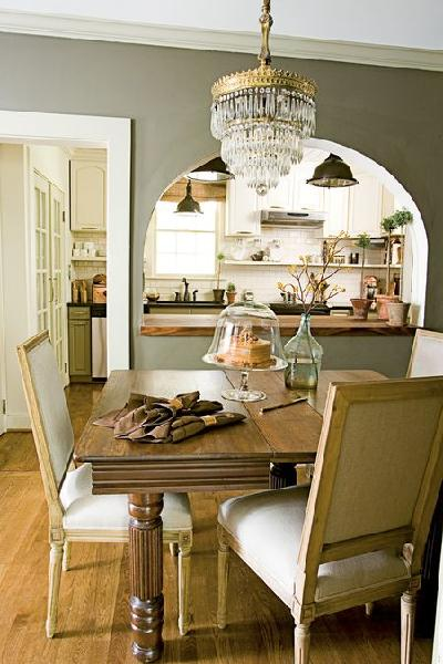 Kitchen pass through transitional dining room - Kitchen dining room pass through ...