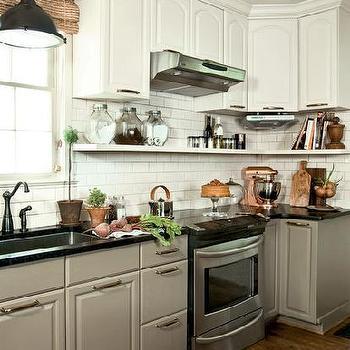 white top cabinets gray bottom cabinets design ideas