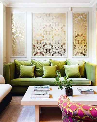 Damask Metallic Wallpaper
