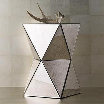 faceted mirror side table, west elm