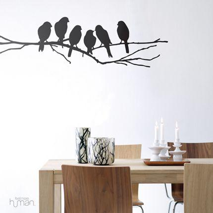 Black Lovebirds Wall Sticker