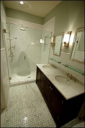 Restoration hardware vanity sink transitional bathroom Restoration hardware bathroom