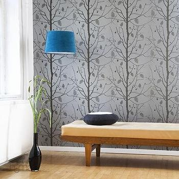 Ferm Living, Family Tree Wallpaper, Wallpaper, Living Green & Modern