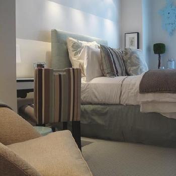 Blue Bedskirt, Contemporary, bedroom, HGTV