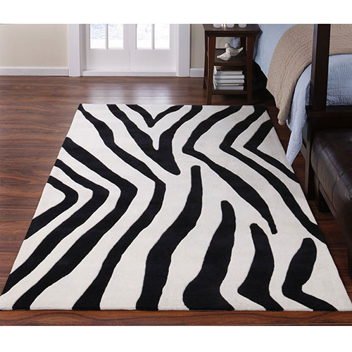 Zebra Rug Look 4 Less