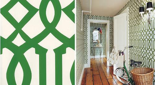 green trellis wallpaper schumacher - photo #11