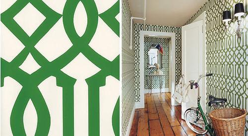 Green Imperial Trellis Wallpaper