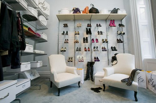 Shelves for Shoes, Contemporary, closet