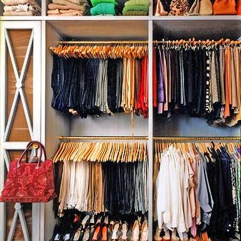 Organized Closet, Contemporary, closet
