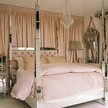 Mirrored Bed, Contemporary, bedroom
