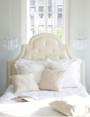 Glass Drop Chandelier, Transitional, bedroom