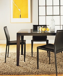 Enzo leather dining chairs look 4 less for Dining chairs for less