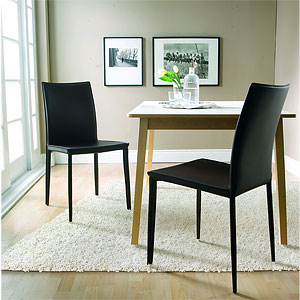 Enzo Leather Dining Chairs Look 4 Less