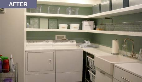 laundry shelves - contemporary - laundry room - style at home