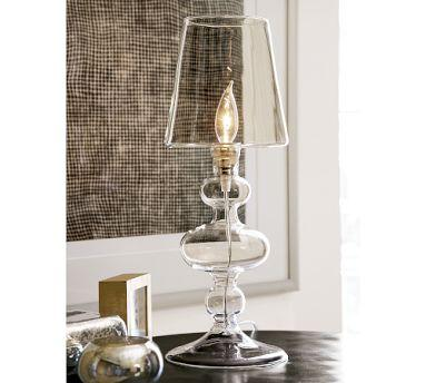 Glass Candlestick Lamp