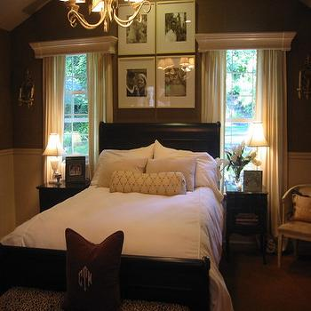 Chocolate Brown Bedroom, Transitional, bedroom, Ralph Lauren Fossil Buete Suede, HGTV