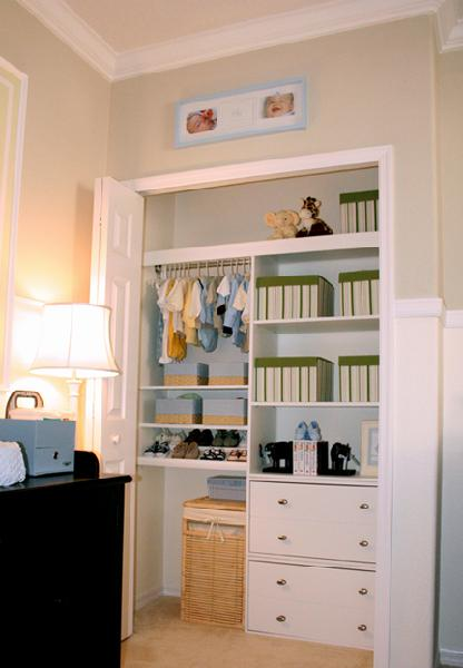 Superb Baby Closet Black Changing Table And Super Organized Nursery Closet.