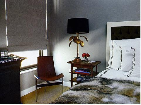 Lotus Flower Lamp Contemporary Bedroom Nate Berkus Design - Nate berkus bedroom designs