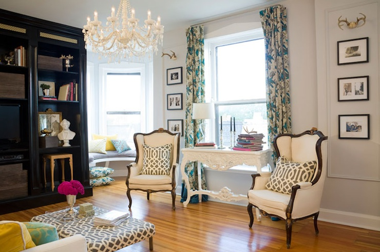 French Wingback Chairs - Eclectic - living room - Summer Thornton ...