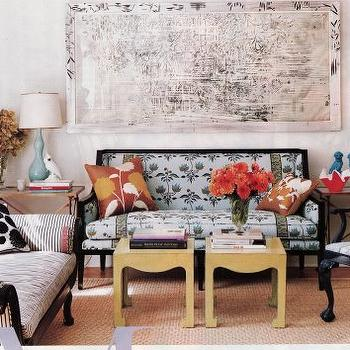 Yellow Accent Table s- Eclectic, living room
