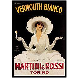 Marcello Dudovich 'Martini & Rossi' Framed Art from Overstock.com
