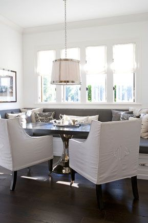 Monogrammed Slipcovered Chairs