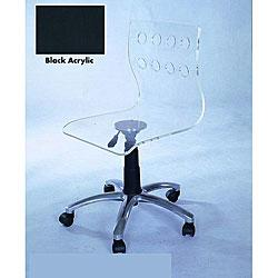 Acrylic Rolling Office Chair From