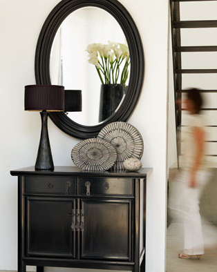 black cabinet - transitional - entrance/foyer