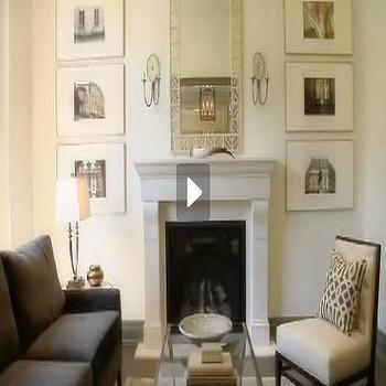 Cream Wall Paint, Transitional, living room, Benjamin Moore Seapearl, House & Home