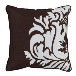 Home Damask Dec Pillow, Chocolate (18