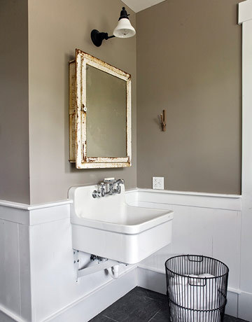 Taupe paint contemporary bathroom apartment therapy - Wall taupe ...