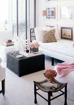 Black And White And Pink Living Room pink living room accents design ideas