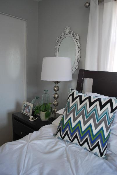 Gray walls contemporary bedroom benjamin moore - Benjamin moore stonington gray living room ...