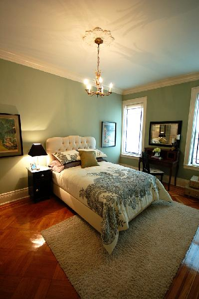 Green Paint Colors Transitional Bedroom Benjamin