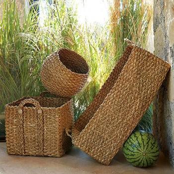 braided storage, west elm