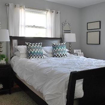 Pintuck Duvet, Contemporary, bedroom, Benjamin Moore Stonington Gray, Nuestra Vida Dulce