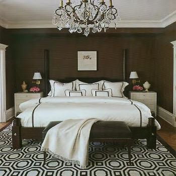 Brown walls transitional bedroom benjamin moore for Candy bedroom ideas