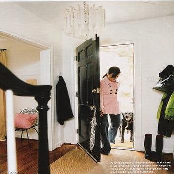 Glossy Black Door, Transitional, entrance/foyer