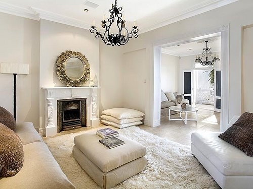 Cream living room walls design ideas - Living room with cream walls ...