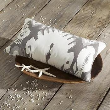 sunshine ikat outdoor pillow, west elm