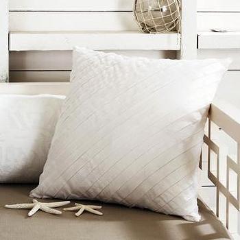 diagonal selvedge pillow cover, west elm