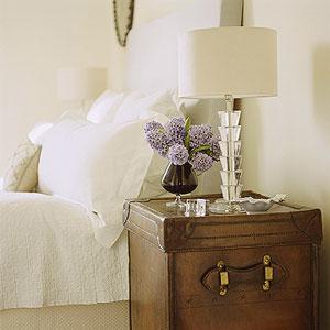 Trunk Nightstand, Traditional, bedroom