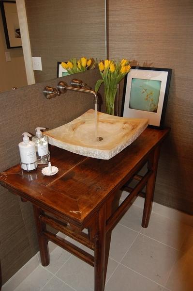 Sherwin Williams Grasscloth Wallpaper - Asian - Bathroom-8555