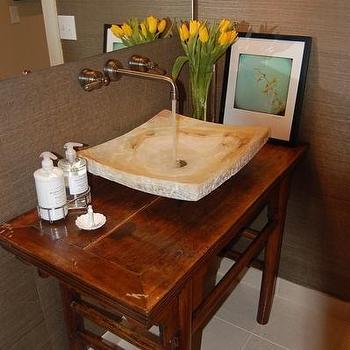 Sherwin Williams Grasscloth Wallpaper, Asian, bathroom