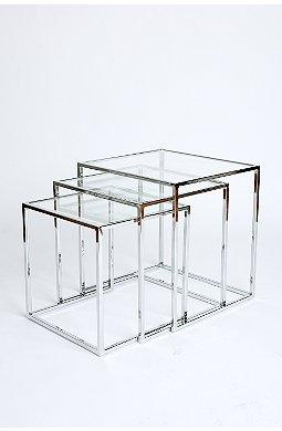 Glass trifecta nesting tables watchthetrailerfo