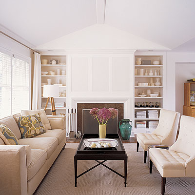 Cream Wall Paint Cottage Living Room Benjamin Moore