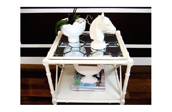 DIY Mirrored Table Top